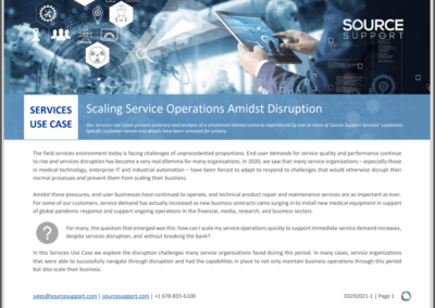 Scaling Service Operations Amidst Disruption